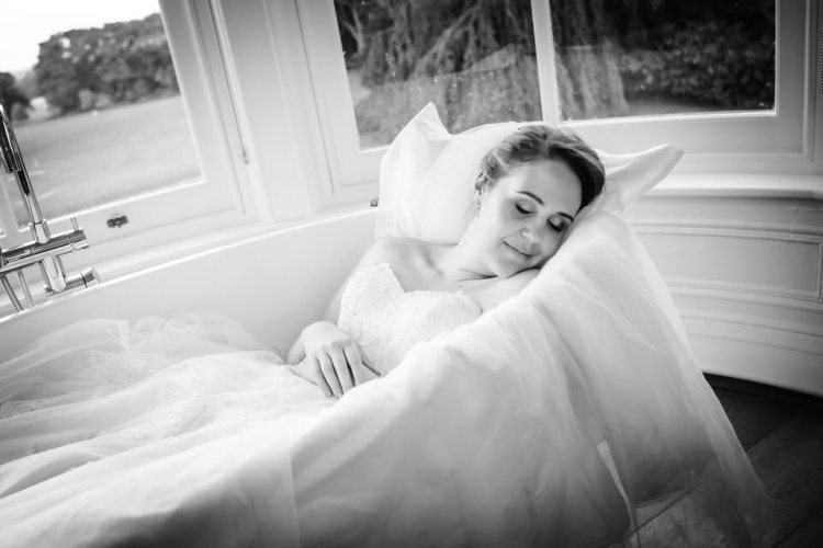 Bride asleep Pendrell Hall